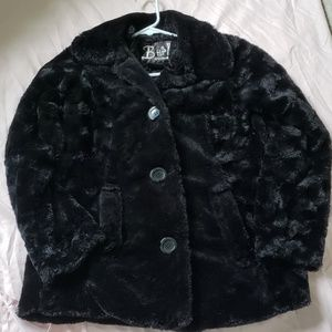 B hip faux fur silky lining size m women's coat